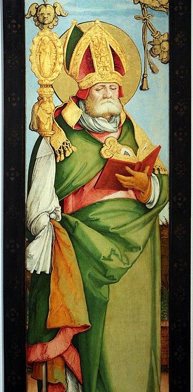Peinture de San Gennaro par le Maestro di Messkirch (1535).