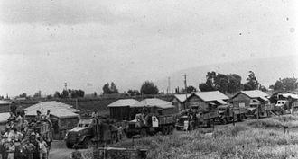 Mahanayim - Convoy from Tiberias in Mahanayim in 1948