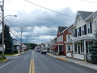 Centerport, Pennsylvania - Centerport. Main Street.
