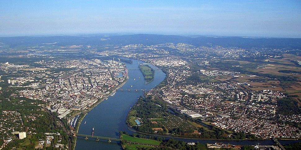Mainz aerial photograph