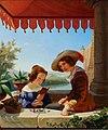 Maksymilian Antoni Piotrowski - Scena balkonowa - portret rodzeństwa artysty 1839.jpg