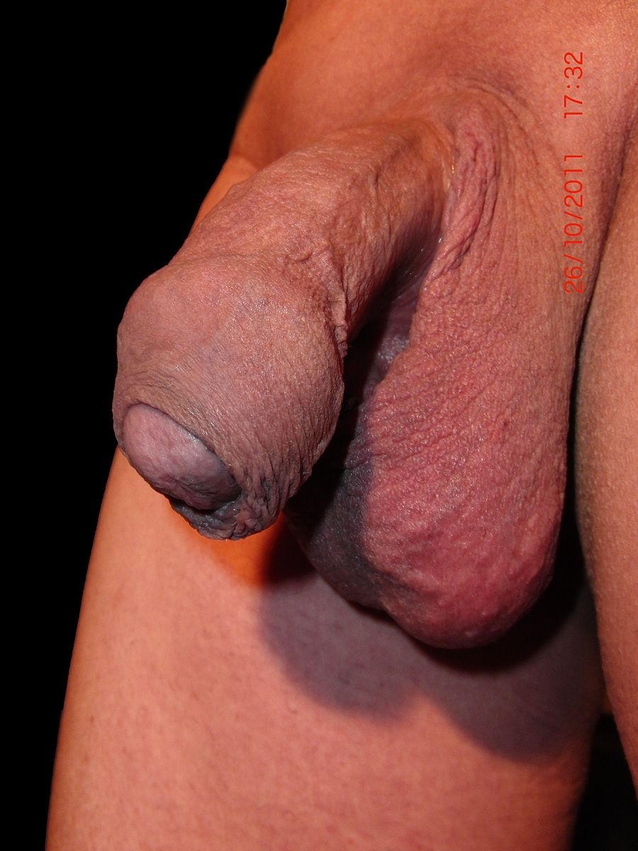 Nude males with shaved genitalia