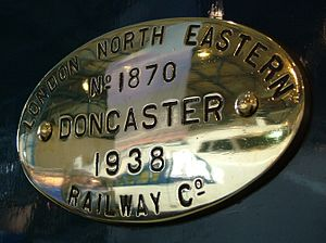 LNER Class A4 4468 Mallard - Mallard builder's plate with works' number 1870
