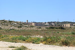 Pembroke, Malta - Garrigue with Pembroke in the distance