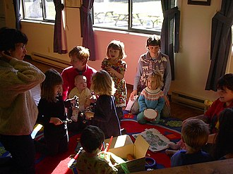 Music education for young children - Image: Mamatoto Playgroup, Lions' Club Hall, 2003