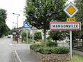 Mangonville (M-et-M) city limit sign.jpg