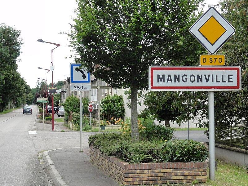 Mangonville (M-et-M) city limit sign