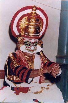 Ravana In Sanskrit Drama Of Kerala India Kutiyattam Artist Guru Natyacharya Mani Madhava Chakyar