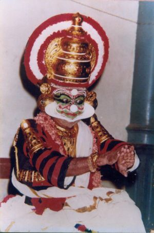 Mani Madhava Chakyar - Natyacharya Mani Madhava Chakyar  as Ravana, at the age of 89, at Tripunithura. It was one of his last public  Koodiyattam performances