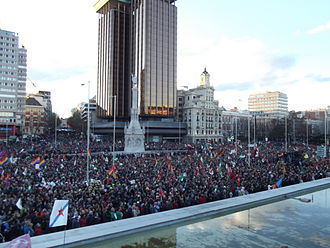 2014 in Spain - March for Dignity in Plaza de Colón, Madrid