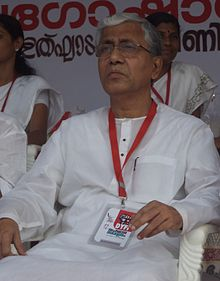 Manik Sarkar in a Rally at Alappuzha in 2013 2.JPG