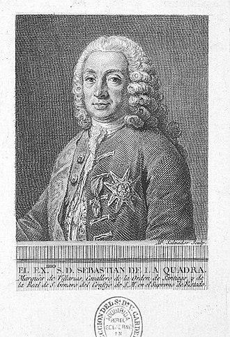 Sebastián de la Cuadra, 1st Marquess of Villarías - Image: Manuel salvador carmona Retrato de Sebastián de la Quadra