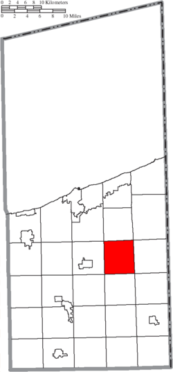 Location of Denmark Township in Ashtabula County