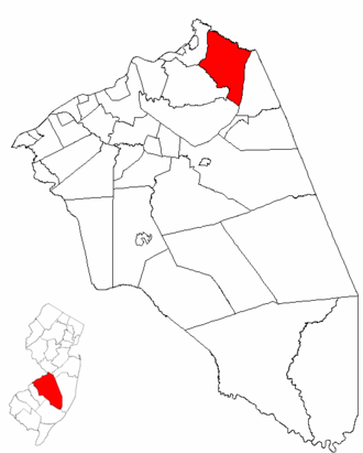 Chesterfield Township, New Jersey - Image: Map of Burlington County highlighting Chesterfield Township
