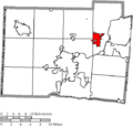 Map of Butler County Ohio Highlighting Trenton City.png