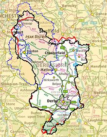 Map Of England Derbyshire.Derbyshire Wikipedia