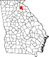 Map of Georgia highlighting Banks County.svg