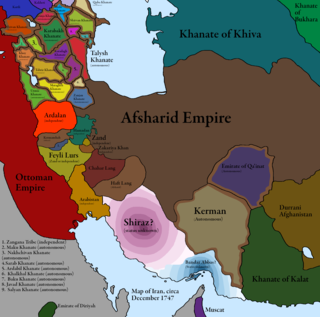 Division of the Afsharid Empire