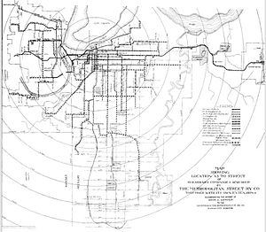 Streetcars in Kansas City - At its height there were 25 streetcar routes in Kansas City, but the last 20th century route was closed in 1957.