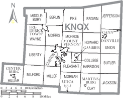Map of Knox County Ohio With Municipal and Township Labels.PNG