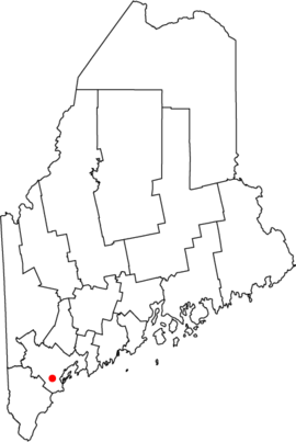 Map of Maine highlighting Westbrook.png