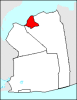 Glen Cove location in Nassau County: the city is bounded by Long Island Sound on the north and the Town of Oyster Bay on the east, south and west