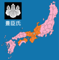 Map of Toyotomi clan 1591.png