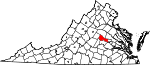 State map highlighting Goochland County