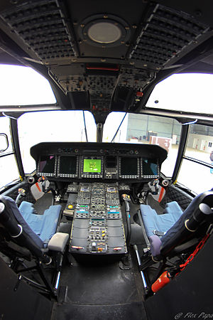 NHIndustries NH90 - Cockpit of an NH90 during a public display