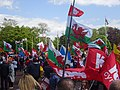 March for Welsh Independence arranged by AUOB Cymru First national march; Wales, Europe 12.jpg