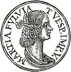 "Marcia Furnilla - Marcia Furnilla from ""Promptuarii Iconum Insigniorum """