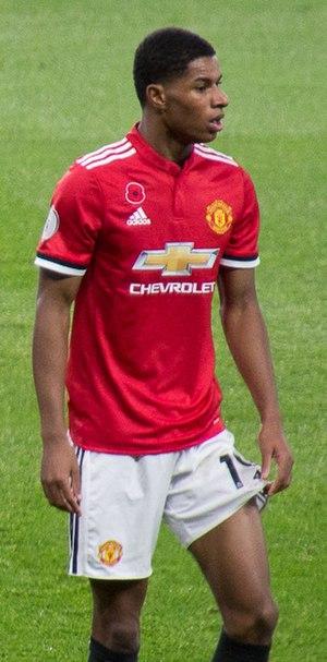 Marcus Rashford - Rashford playing for Manchester United in 2017