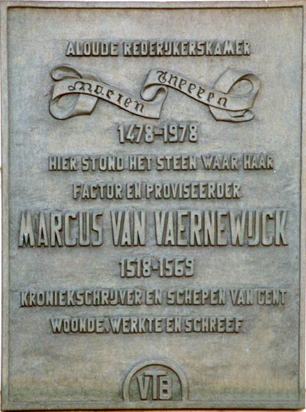 File:Marcus van Vaernewijck gedenkplaat Ingelandgat 29 Gent.png