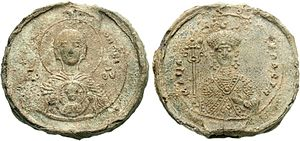 Maria of Alania - Lead seal of Empress Maria, 1070s