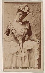 Marie Tempest, from the Actresses series (N245) issued by Kinney Brothers to promote Sweet Caporal Cigarettes MET DP859698.jpg