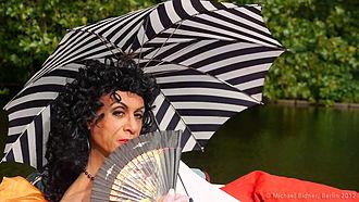 """Mario Montez - Still shot of Mario Montez from the short film """"A Lazy Summer Afternoon"""" by John Heys"""