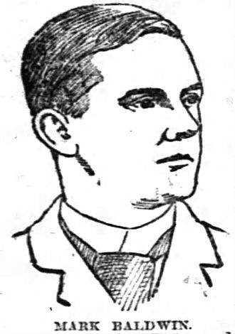 Mark Baldwin (baseball) - Sketch of Mark Baldwin, 1888