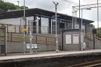 Marks Tey railway station - Marks Tey railway station in 2017, looking south towards London