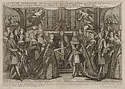 Marriage of Louis, Dauphin of France to Marie Thérèse Raphaëlle, Infanta of Spain in 1745 at Versailles.jpg