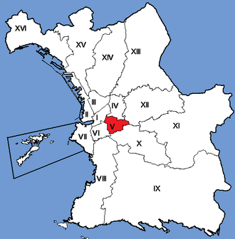 5th arrondissement of Marseille - Image: Marseille Arrondissements 05