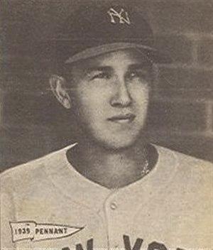 Marv Breuer - Image: Marv Breuer 1940 Play Ball card
