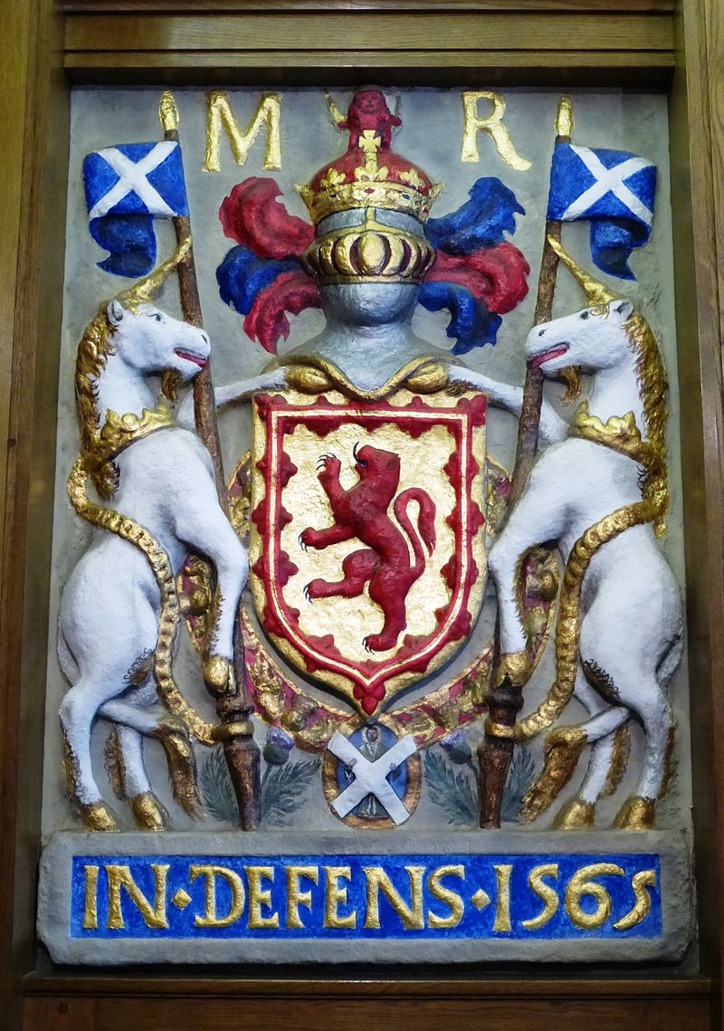Mary, Queen of Scots arms, South Leith Parish Church.JPG