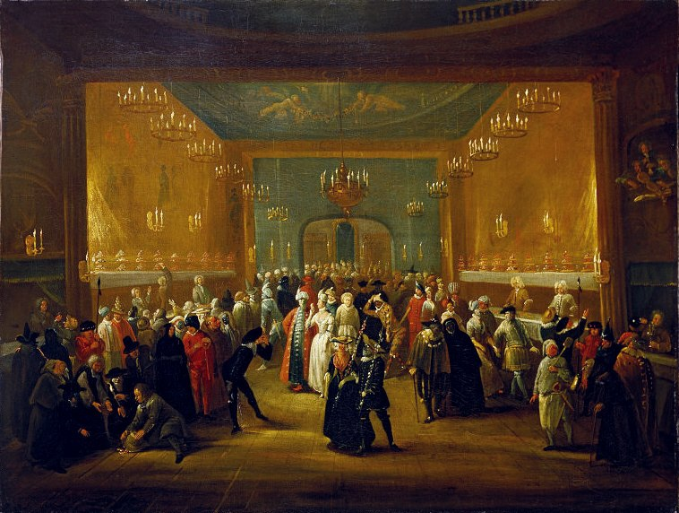 Masquerade at the King%27s Theatre Haymarket c1724