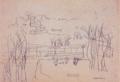 MatsumotoShunsuke Sketch Suburban Landscape ca1937.png