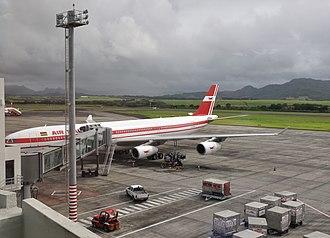 Sir Seewoosagur Ramgoolam International Airport - An Air Mauritius Airbus A340-300 at the gate