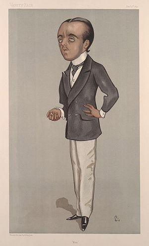 Max Beerbohm - Beerbohm caricatured by Walter Sickert in Vanity Fair (1897)