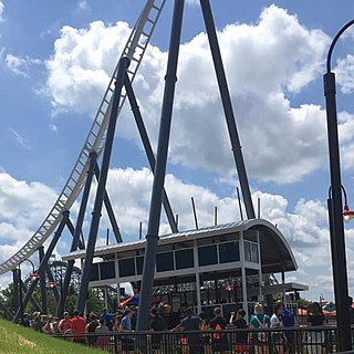 Maxx Force Steel roller coaster at Six Flags Great America