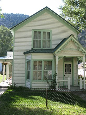 National Register of Historic Places listings in Hinsdale County, Colorado - Image: May Bardwell Heath house, 1891