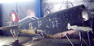 Messerschmitt Me 209 - Me 209 fuselage at the Polish Aviation Museum, Kraków.