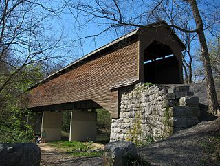 Meems Bottom Covered Bridge place in Virginia listed on National Register of Historic Places